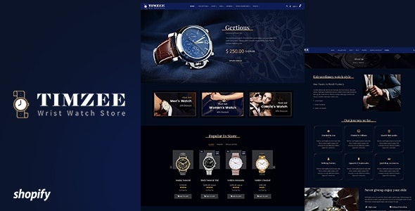 Timzee - Watch Sectioned Shopify Theme - Shopify eCommerce