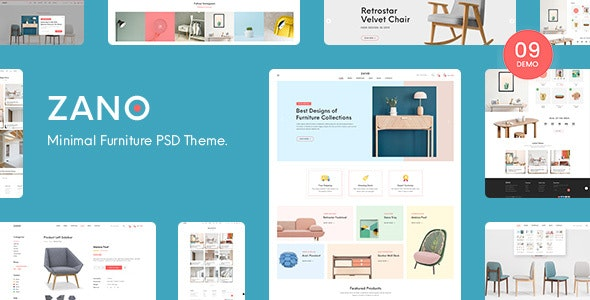Zano | Furniture eCommerce PSD Template - Shopping Retail
