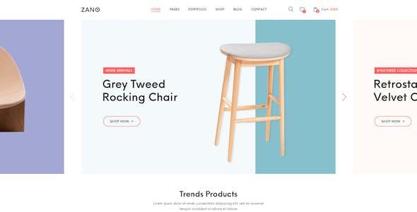 Zano | Furniture eCommerce PSD Template