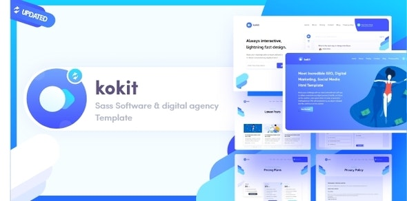 Kokit- SaaS Software & Digital Agency Template - Technology Site Templates