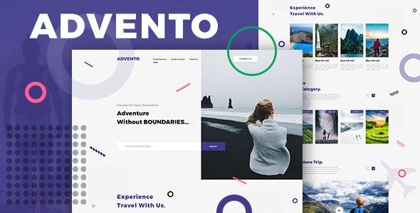 Advento - Travel One Page PSD - Travel Retail