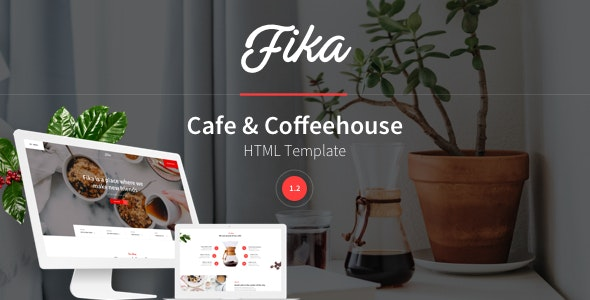 Fika - Cafe & Coffeehouse HTML Template - Restaurants & Cafes Entertainment