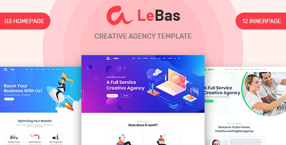 Lebas - Creative Agency PSD Template - Business Corporate