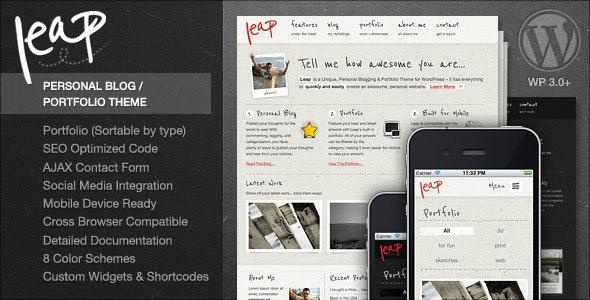 Leap - Unique Personal Blog / Portfolio Theme - Personal Blog / Magazine