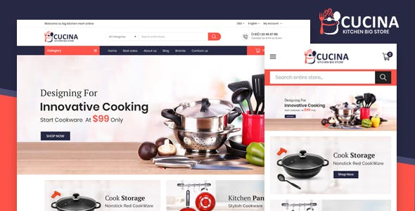 Cucina Kitchen Mega Store - Responsive Prestashop Themes