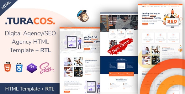 Turacos - Digital Agency/SEO Agency HTML Template - Marketing Corporate