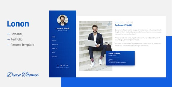 Lonon - Resume Portfolio Template nulled theme download