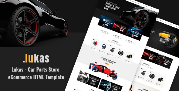Lukas - Car Parts Store eCommerce HTML Template - Shopping Retail