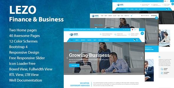 Lezo Finance & Business HTML5 Template - Business Corporate