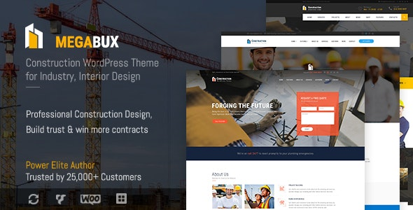 MegaBux | Construction WordPress Theme - Business Corporate