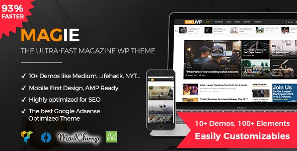 Magie | Magazine WordPress Theme - Personal Blog / Magazine