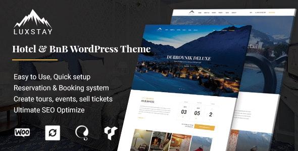 Hotel & BnB WordPress Theme   LuxStay - Travel Retail