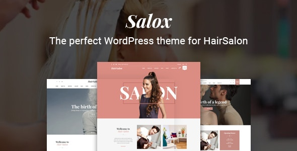Salox | Hair Salon WordPress Theme - Health & Beauty Retail