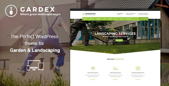 Gardex | Landscaping & Gardening WordPress Theme - Business Corporate