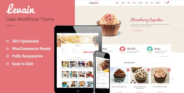 Levain | Cake WordPress Theme - Food Retail
