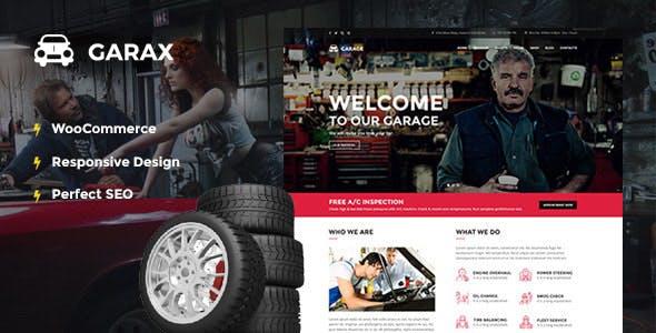 Garax   Automotive WordPress Theme