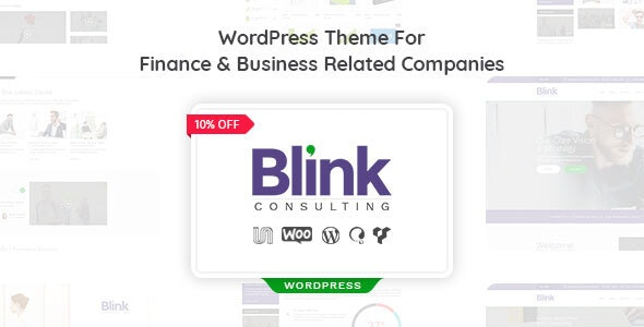 Blink - Finance and Accounts Business WordPress Theme - Business Corporate