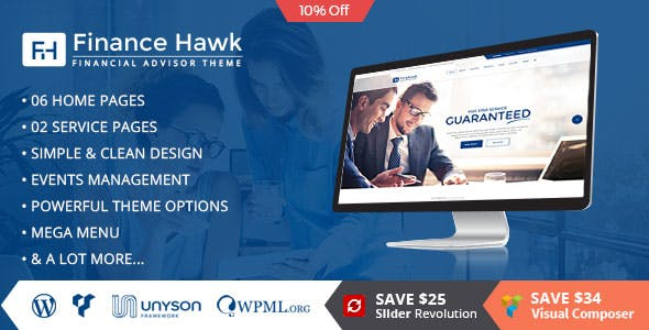 Finance Hawk - Consulting Business WordPress Theme
