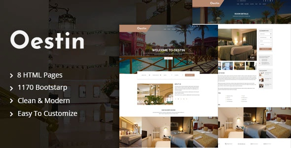 Oestin - Hotel & Resort HTML Template - Travel Retail