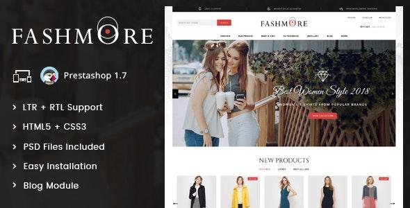 FashMore - Unique Fashion Prestashop 1.7 Responsive Theme - Fashion PrestaShop