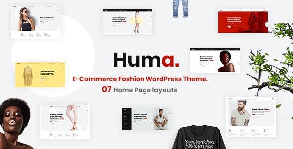 Huma – Multipurpose Fashion E-commerce WordPress Theme - WooCommerce eCommerce