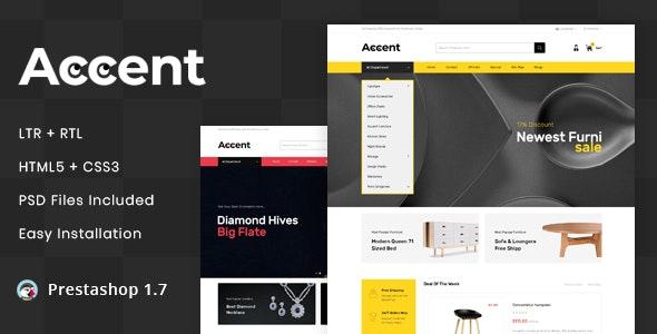 Accent - MultiPurpose Prestashop 1.7 Responsive Theme - Shopping PrestaShop