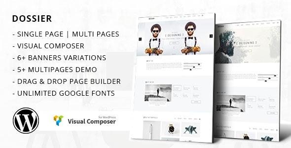 Dossier - Business Portfolio WordPress Theme - Portfolio Creative
