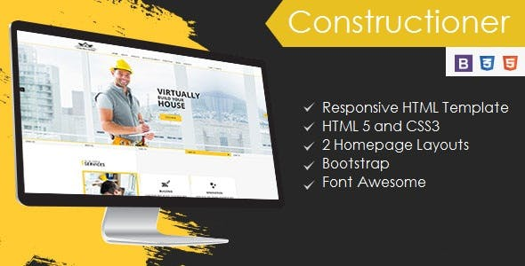 Constructioner - Construction Business HTML Template
