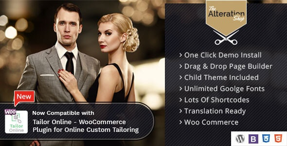 Alteration Shop - WordPress WooCommerce Theme for Tailors - Fashion Retail
