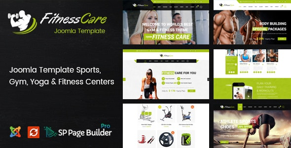 Fitness Care - Responsive Joomla Template for Gym - Health & Beauty Retail