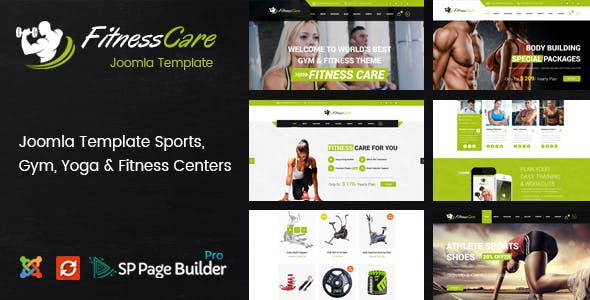 Fitness Care - Responsive Joomla Template for Gym nulled theme download