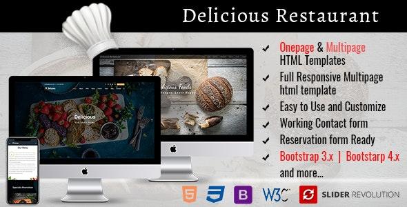 Responsive Restaurant HTML Template - Food Retail
