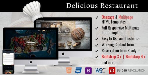 Responsive Restaurant HTML Template