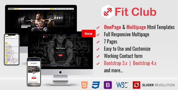 Fitness - Responsive HTML Template - Health & Beauty Retail