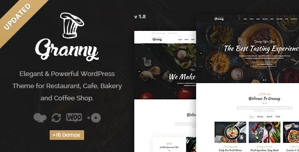 Granny - Elegant Restaurant & Cafe WordPress Theme - Restaurants & Cafes Entertainment