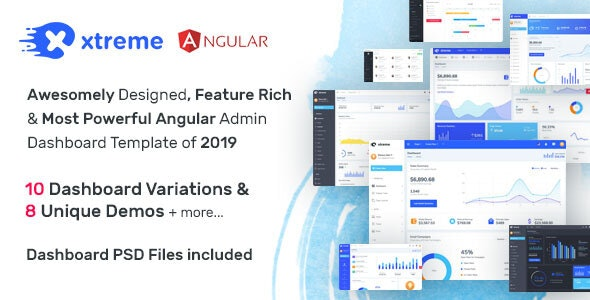 Xtreme - Angular 8 Admin Template by wrappixel | ThemeForest