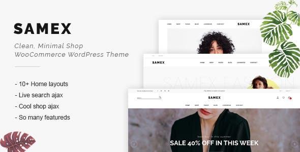 Samex - Clean, Minimal Shop WooCommerce WordPress Theme nulled theme download