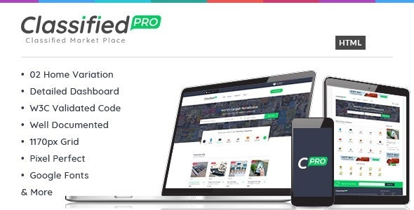 Classified Pro - Listing HTML Template - Corporate Site Templates