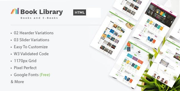 Book Library - Online Store HTML Template