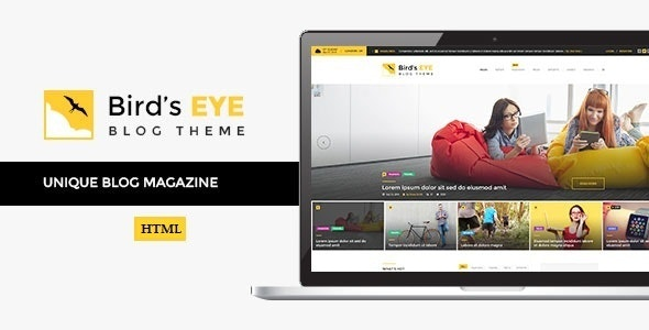 Birds Eye - Blog and News HTML Template - Personal Site Templates