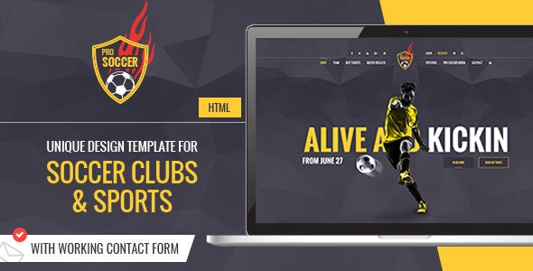 Soccer Acumen - Football Club HTML Template - Entertainment Site Templates