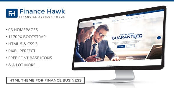 Finance Hawk – Business Consultancy Template