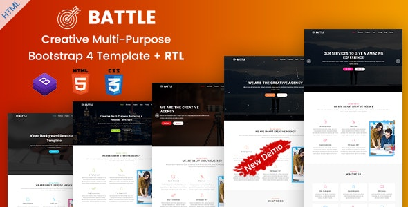 Battle | Multi-Purpose Agency Portfolio HTML Template - Site Templates