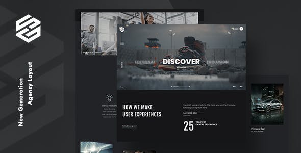 Odometer Website Templates from ThemeForest