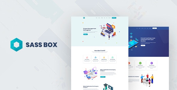 Sassbox - Startup and SaaS Template - Business Corporate