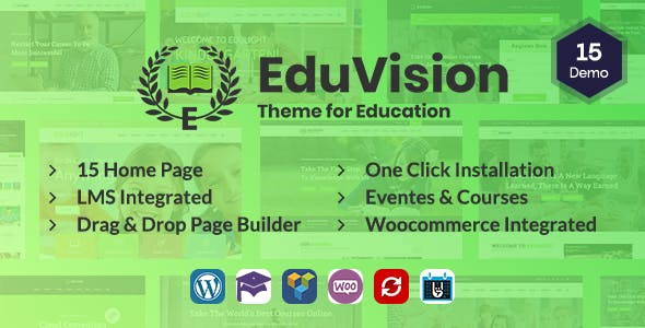 Download Eduvision - Online Course Multipurpose Education WordPress Theme