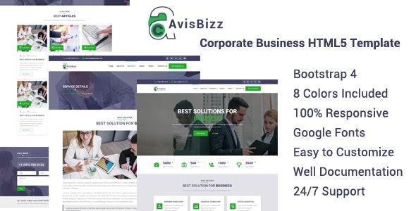 AvisBizz - Corporate Business HTML5 Template - Business Corporate