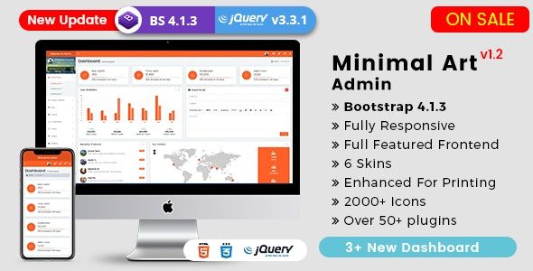 Minimal Art - Responsive Bootstrap 4 Admin Dashboard & WebApp Templates - Admin Templates Site Templates