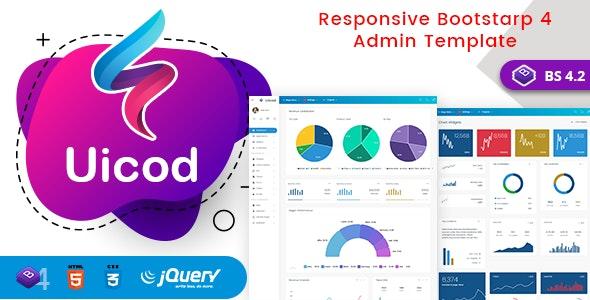 Uicod - Responsive Bootstrap 4 Admin Dashboard & WebApp Templates - Admin Templates Site Templates