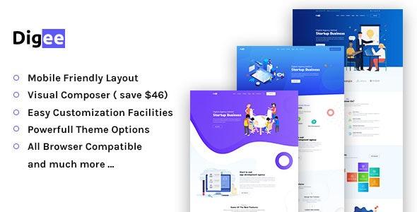 Digee - Digital Marketing Agency WordPress Theme - Business Corporate